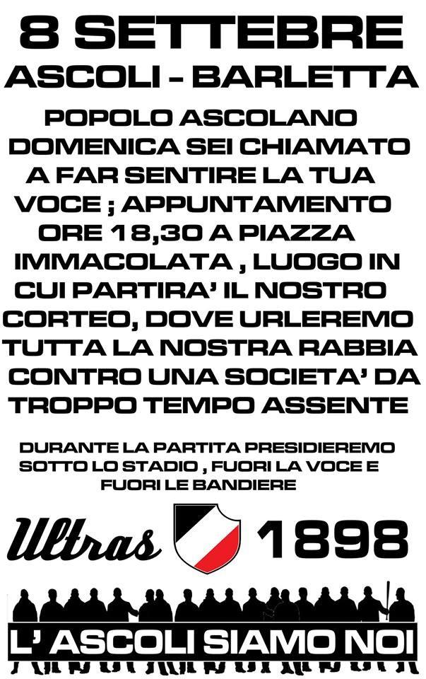 La locandina degli Ultras 1898
