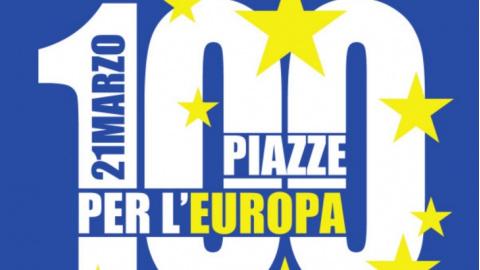 Risultati immagini per La bandiera dell'Europa sui balconi